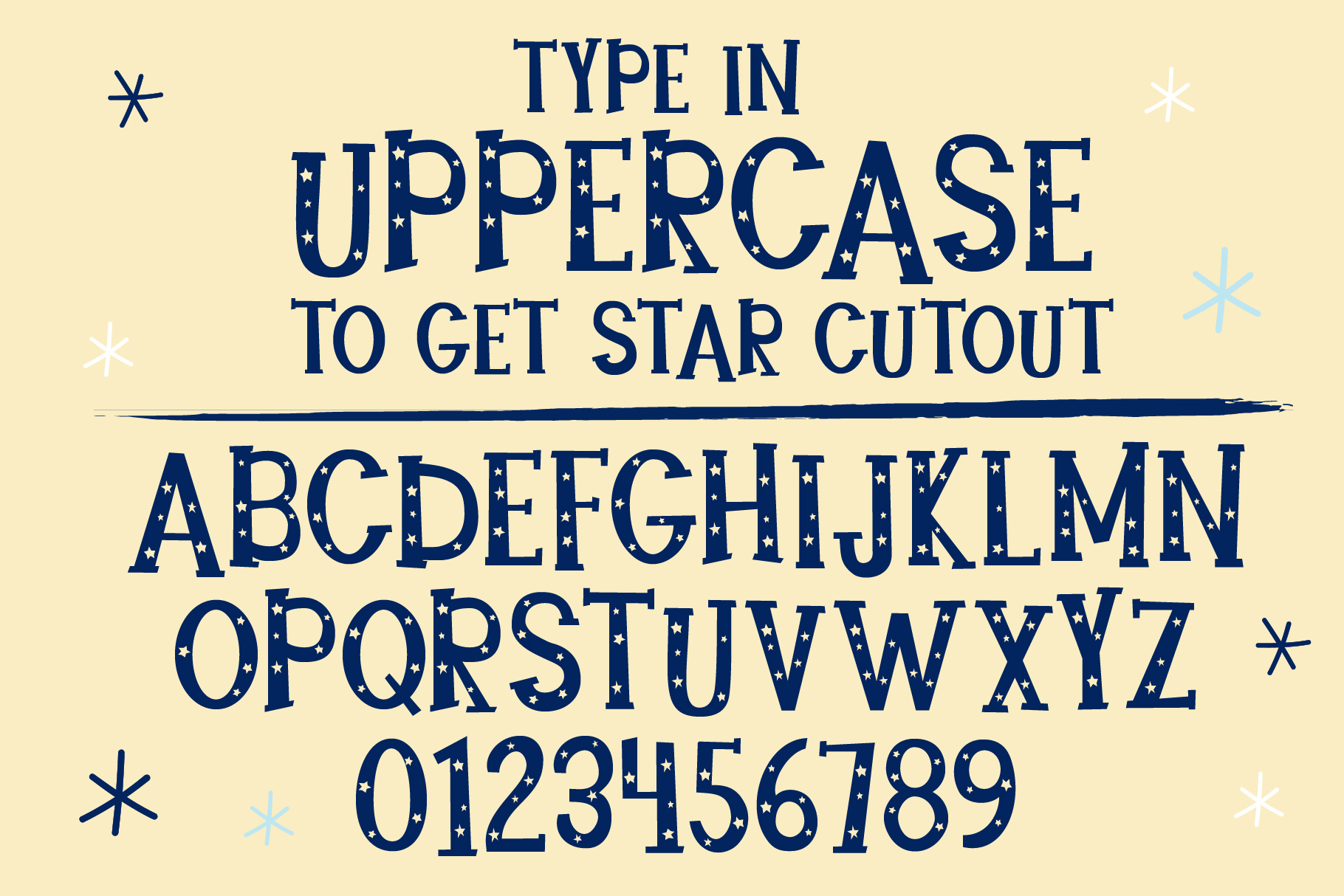 Star Bright Moon Light Font Duo example image 2