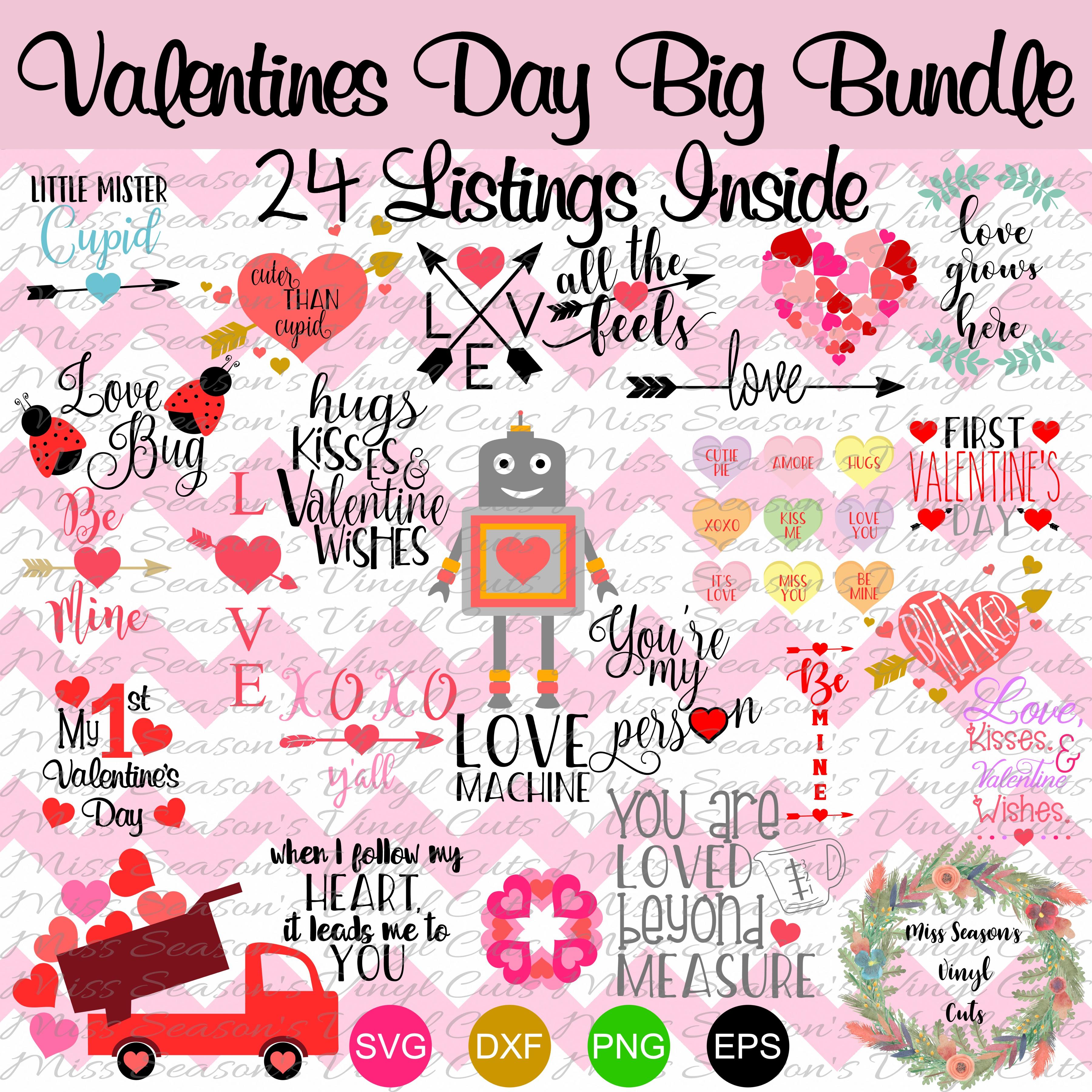 Huge Valentines Day Bundle SVG  example image 1
