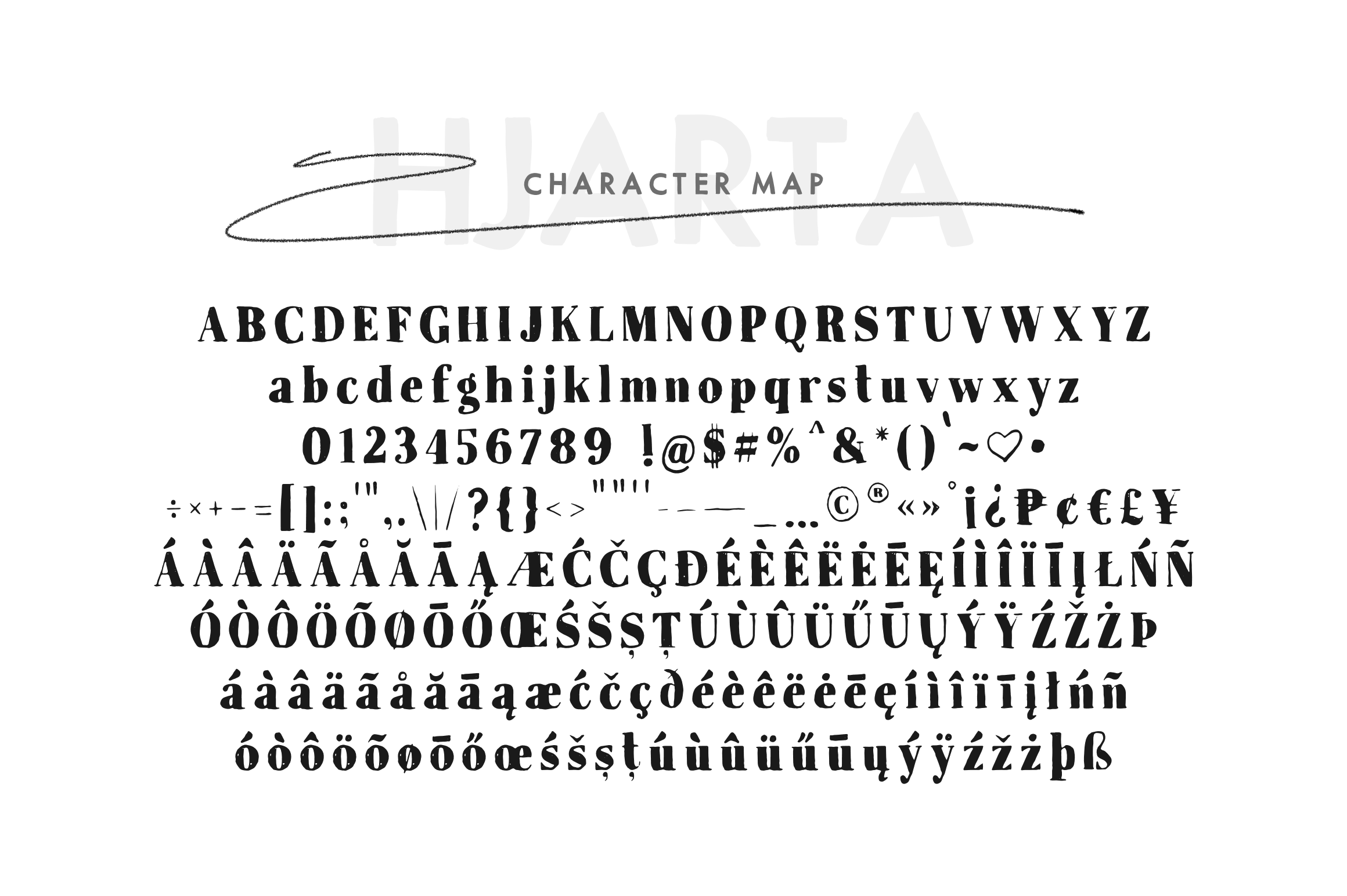 Hjarta - A Pencil Drawn Font Trio example image 3