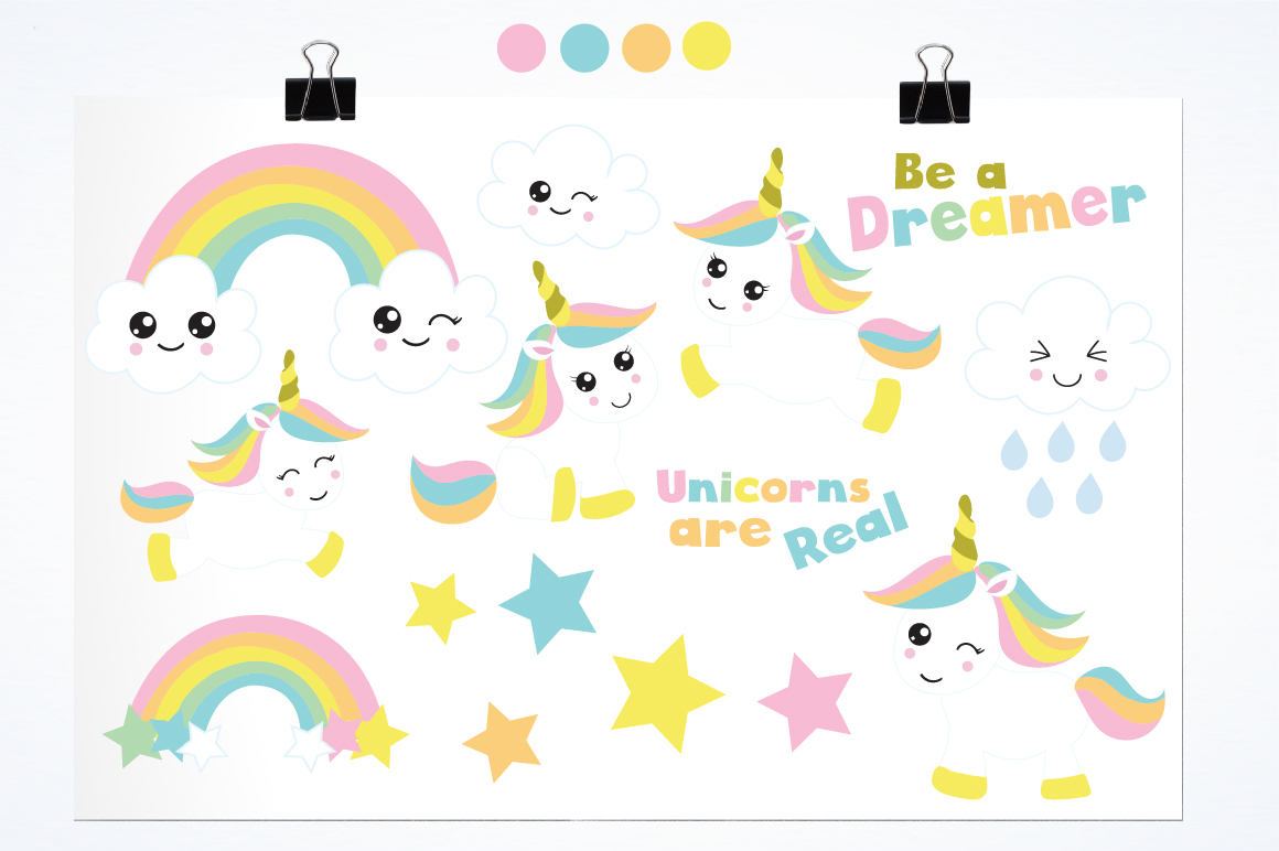 Unicorn Babies graphics and illustrations example image 2