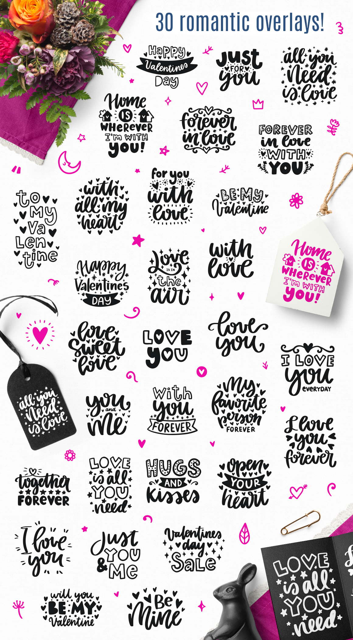 30 Valentine's Day Overlays! example image 5