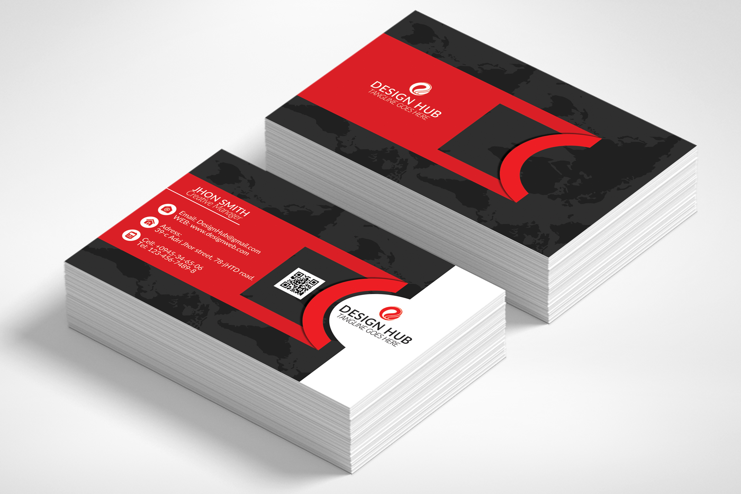 Stylish Business Cards Template example image 1