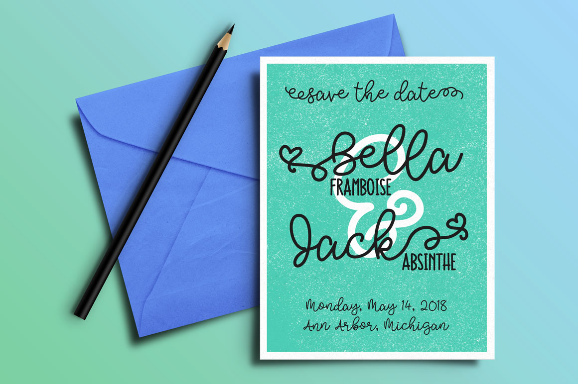 Bobbles - idea - wedding save the date card