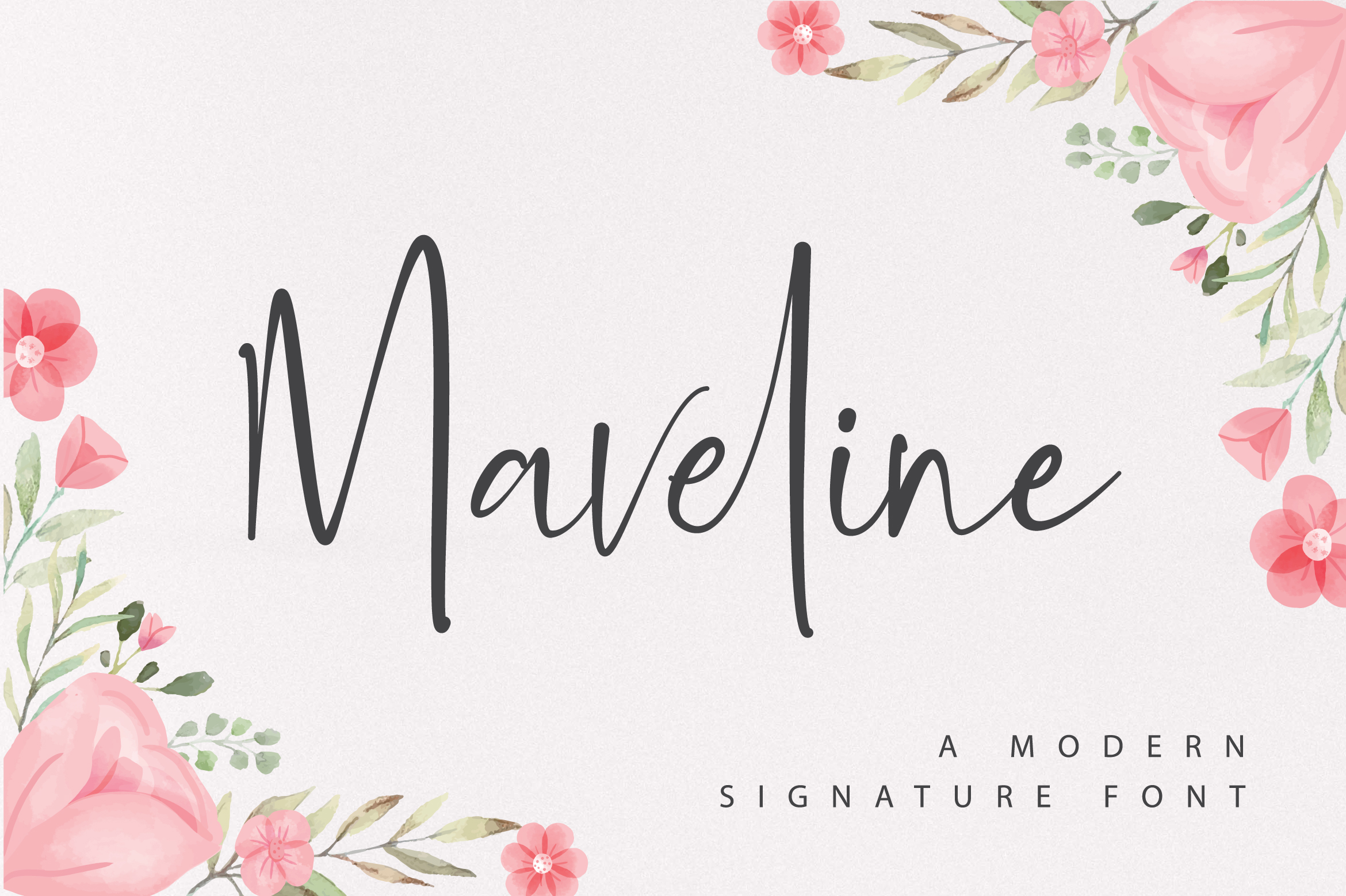 Maveline - A Modern Signature Font example image 1
