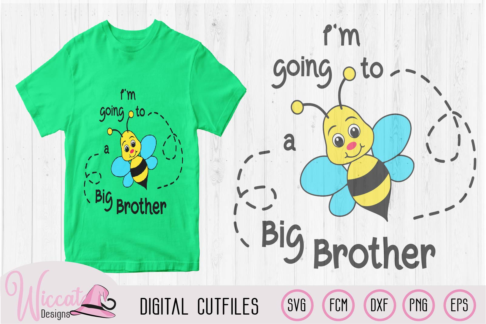 Big Brother svg, kids svg, Bee quote svg, word pun svg, example image 2