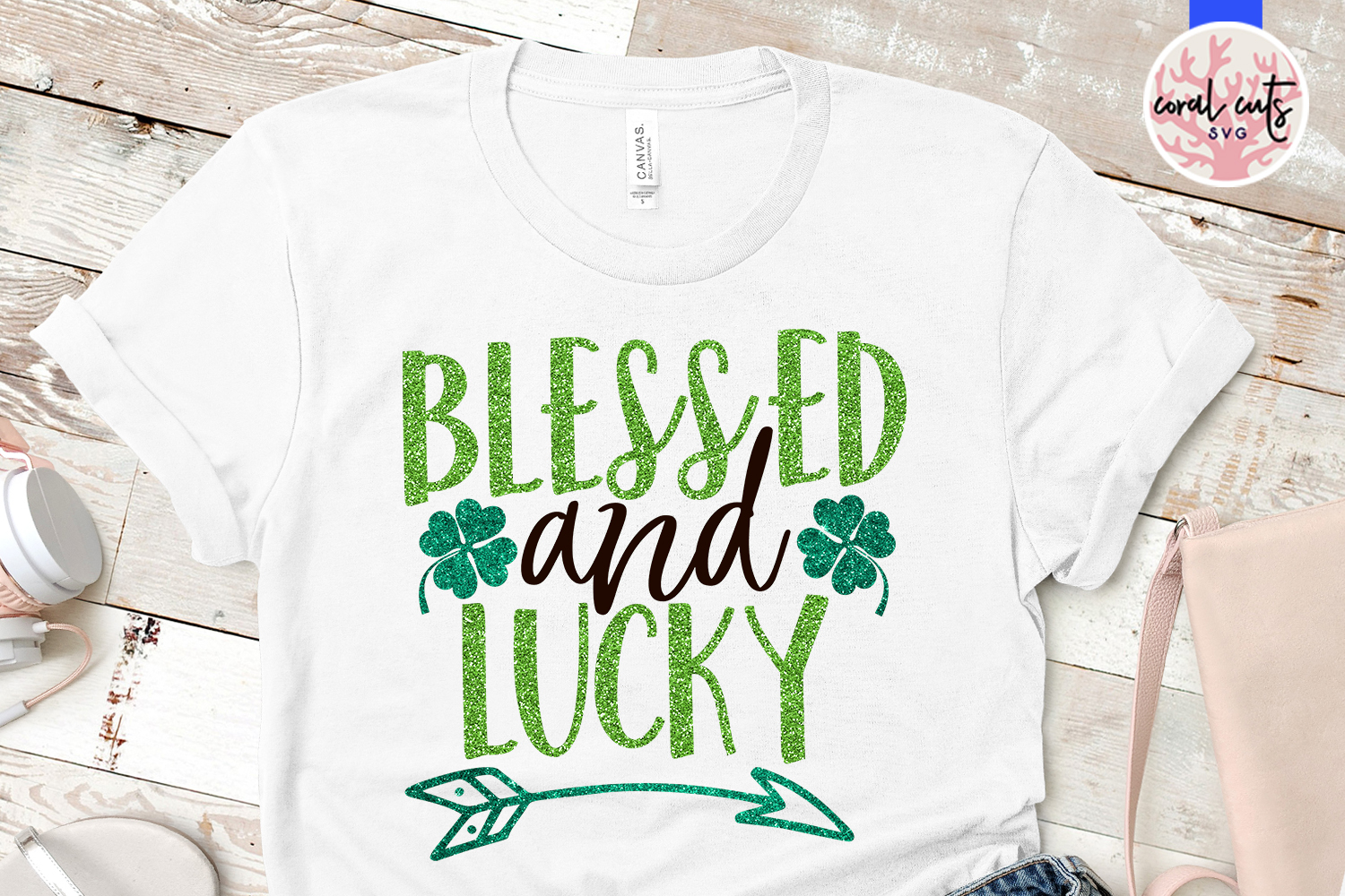 Blessed and lucky - St. Patrick's Day SVG EPS DXF PNG example image 2
