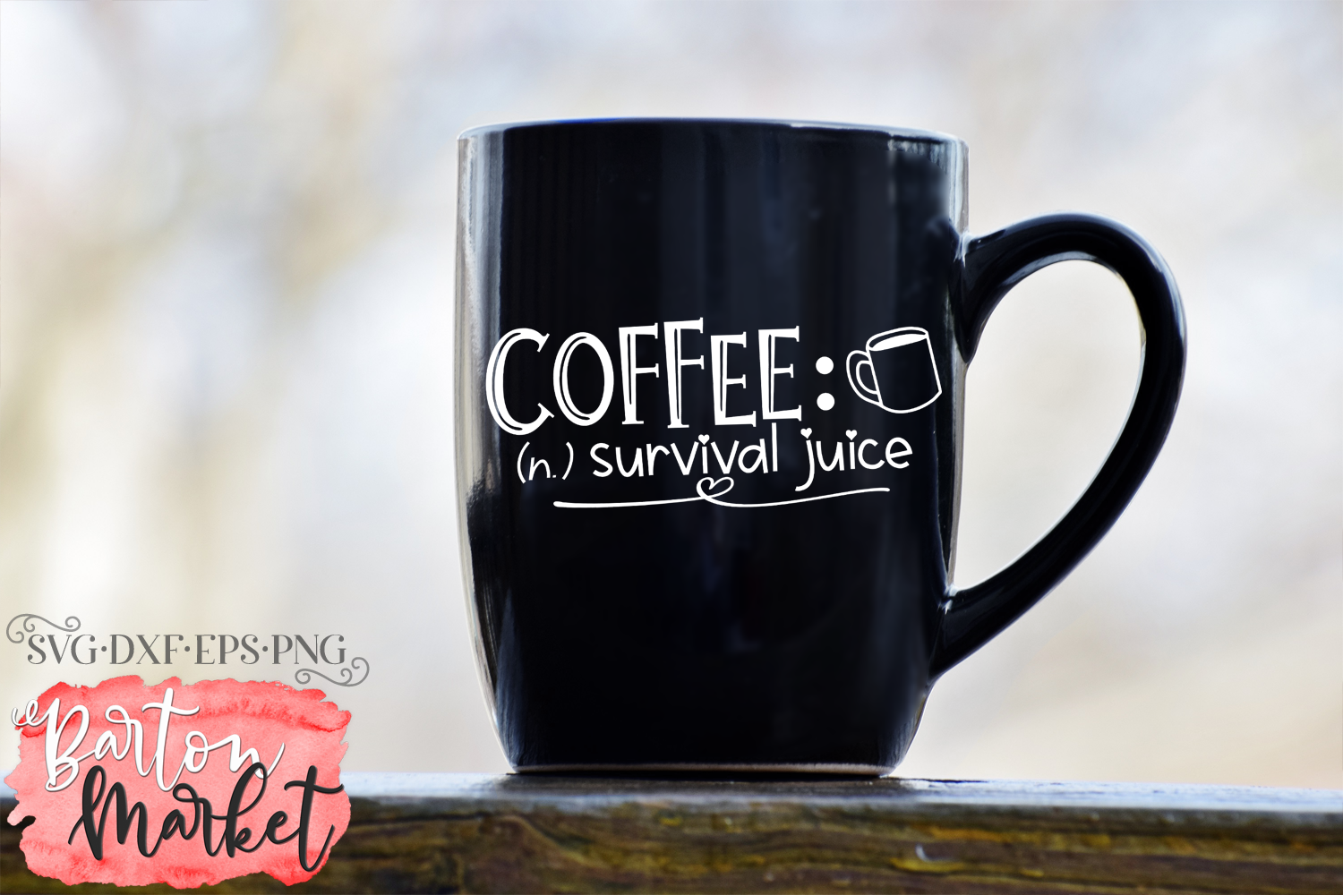 Coffee Survival Juice SVG DXF EPS PNG example image 2