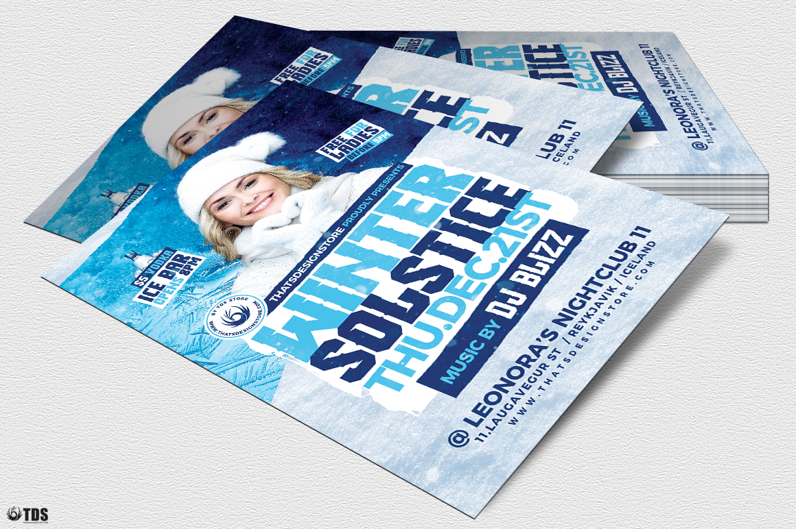 Winter Solstice Flyer Template V4 example image 4