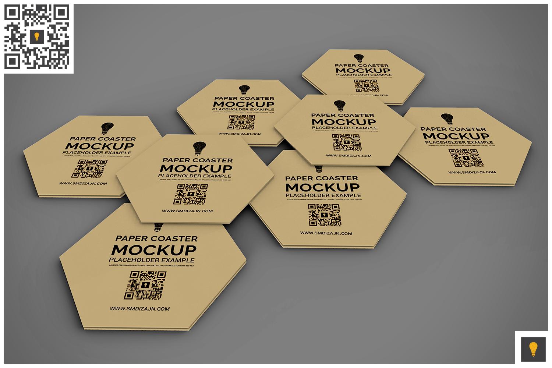 Paper Coaster Mockup example image 5