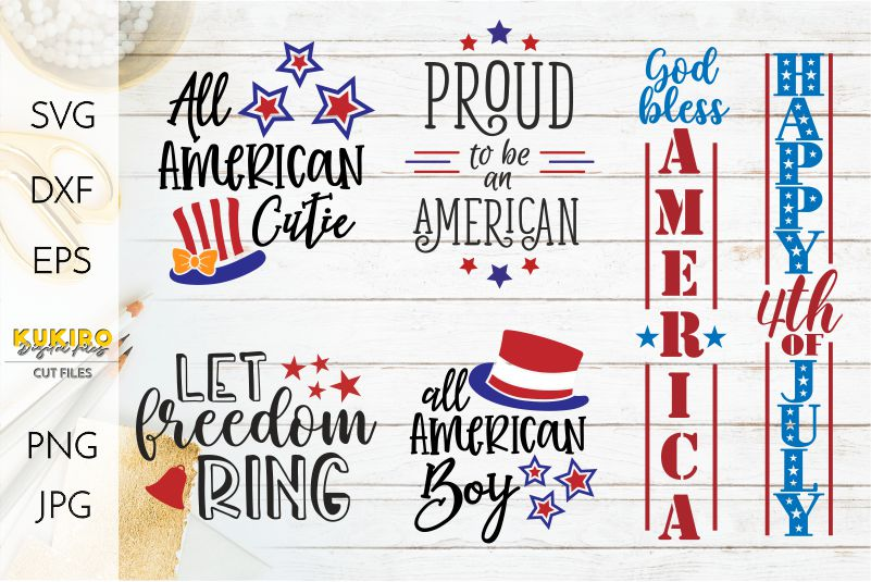 4th of July Bundle SVG - Big Patriotic Cut files Bundle example image 3