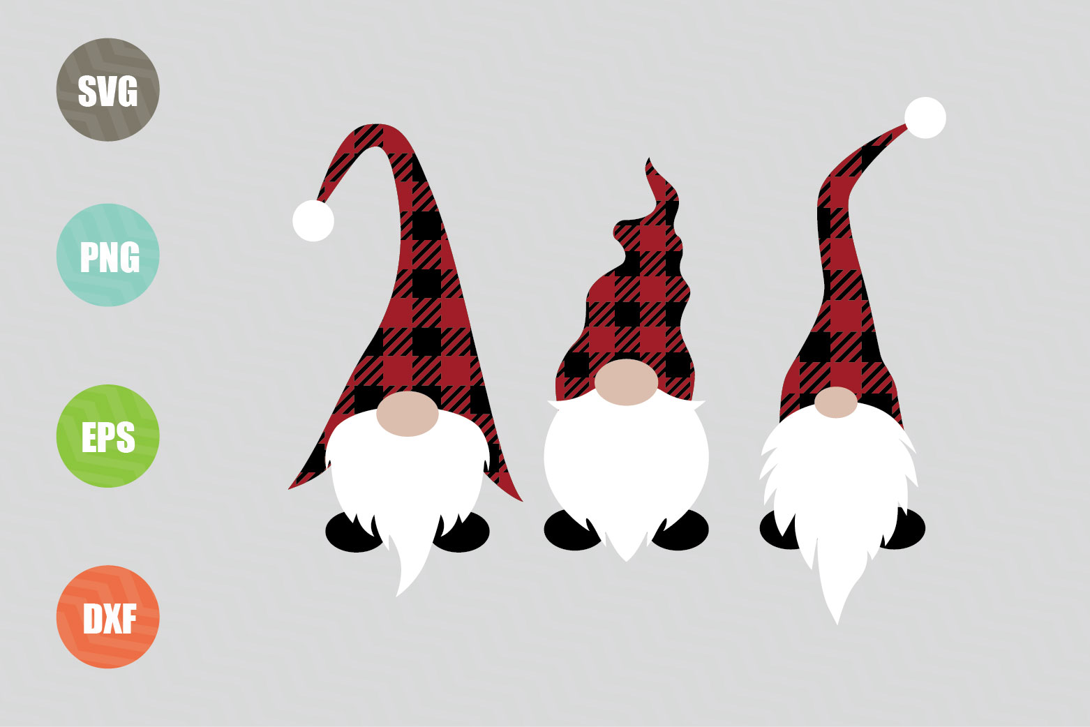 Christmas Gnomes SVG File example image 1