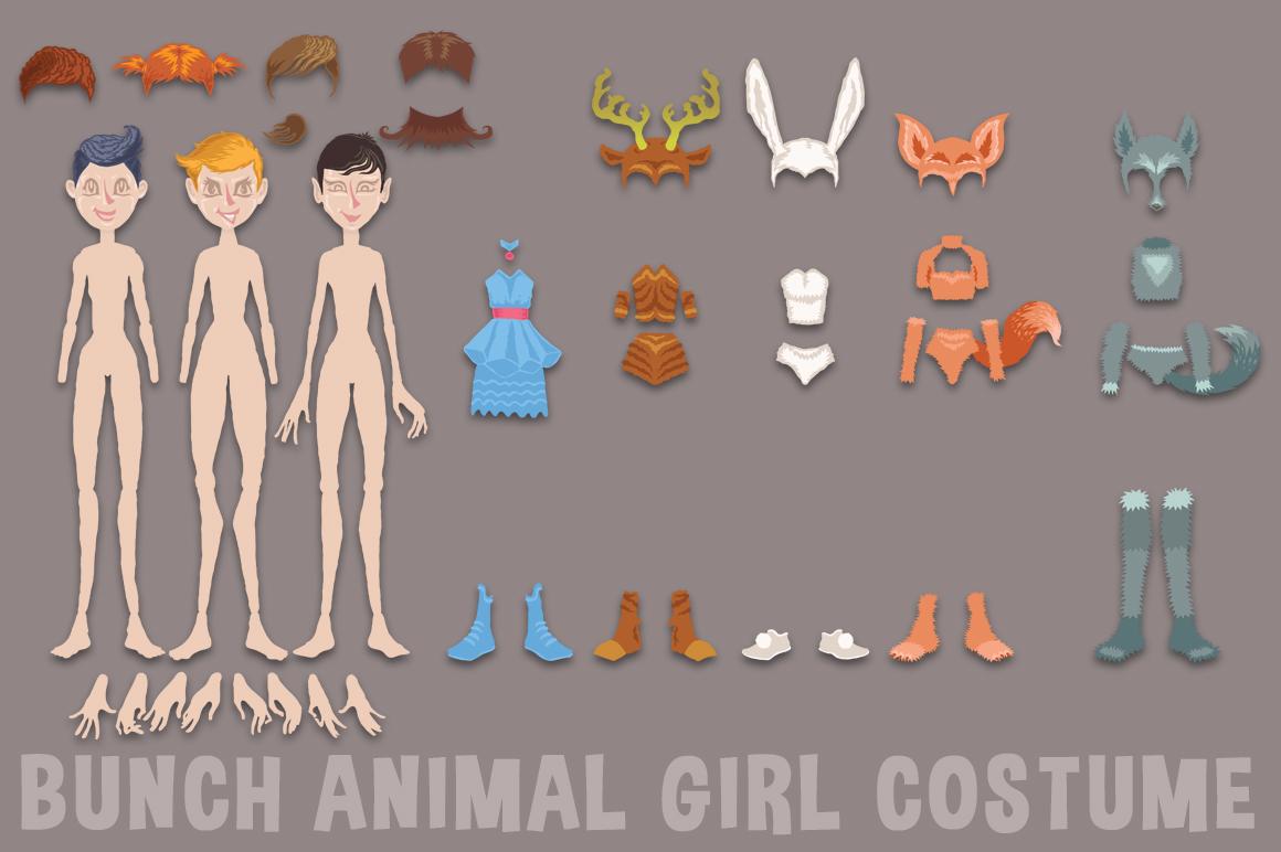 Bunch Animal Girl Costume example image 2