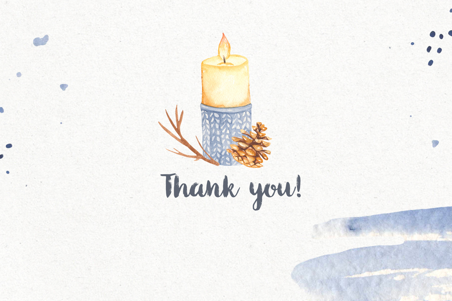Hygge watercolor clipart Christmas cozy winter collection example image 12