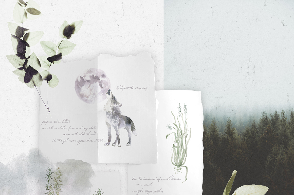 Gloomy fairytale graphic collection. example image 2