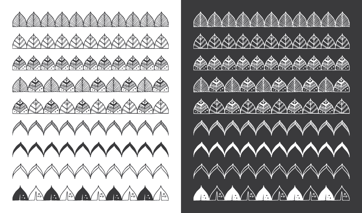 Hand Drawn Pattern Brushes Bundle - Volumes 01, 02 & 03 example image 13