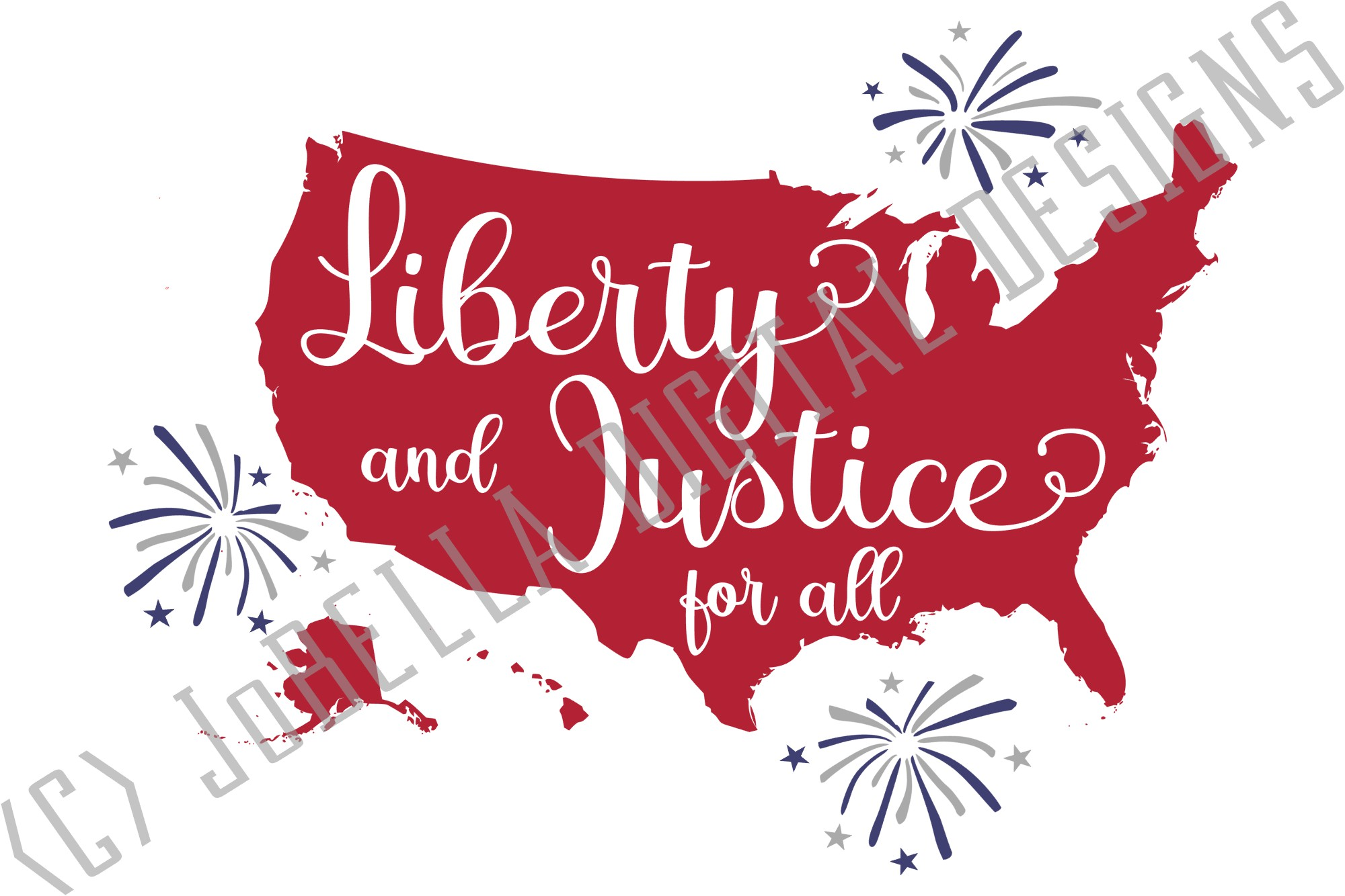 America SVG & July 4th Sublimation Design and Printable example image 4