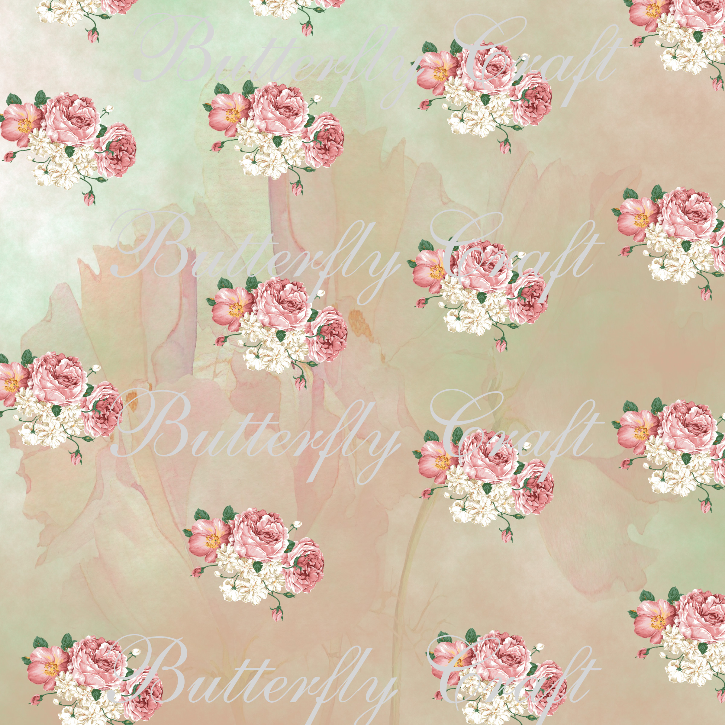 Pastel Flowers Digital Paper Flower Digital Paper Spring Flowers