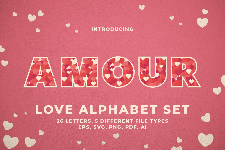 Love Alphabet Set example image 1