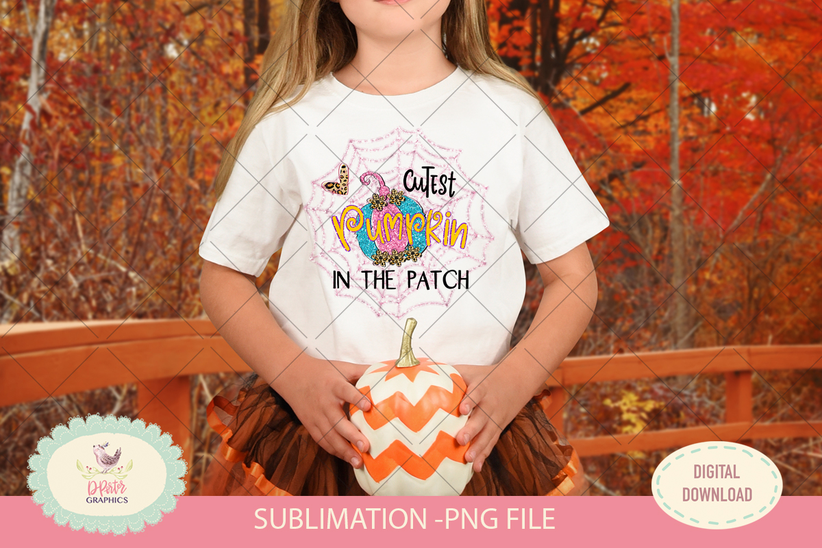 Cutest pumpkin in the patch, sublimation png, halloween example image 1