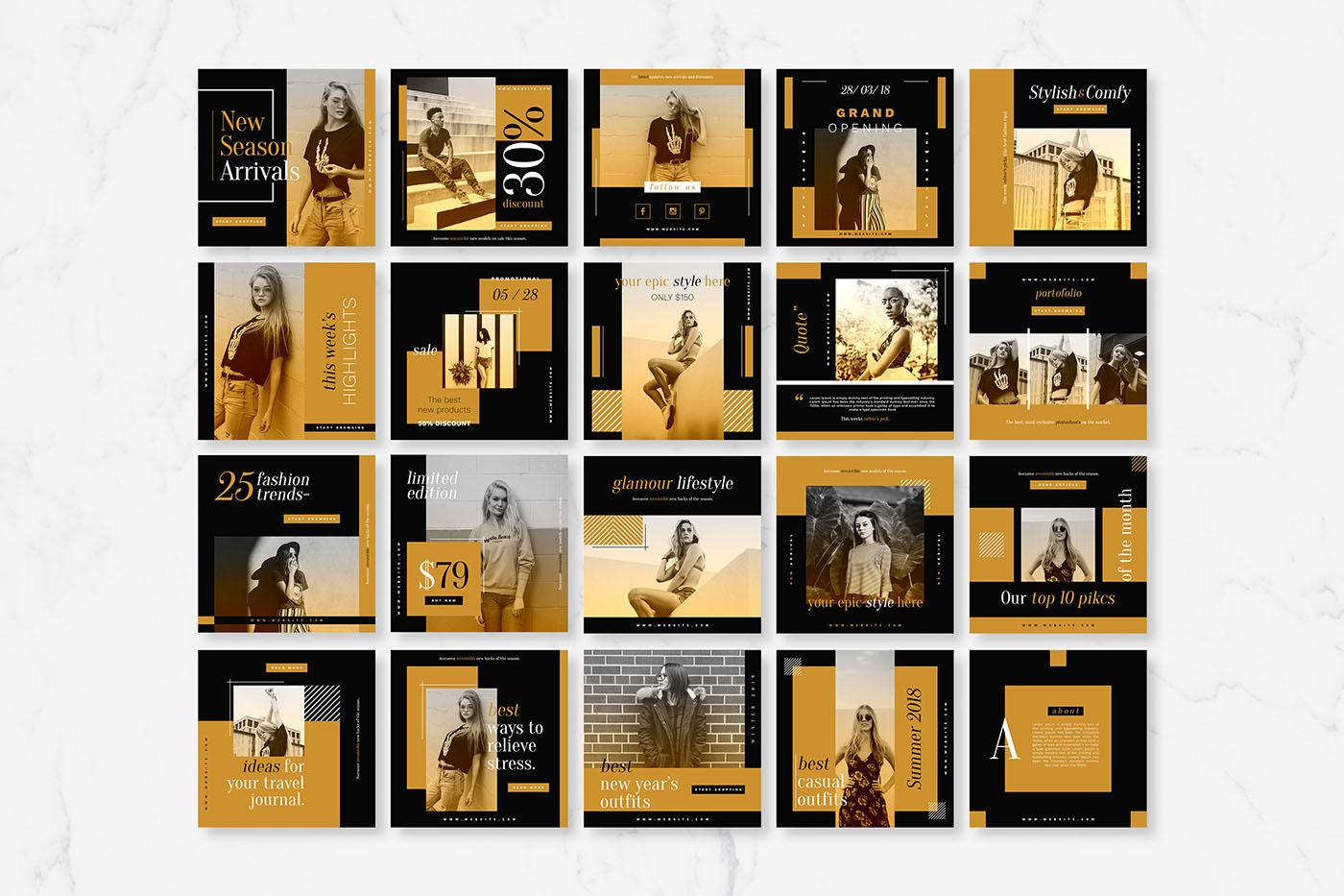 Elegance Instagram Pack example image 4