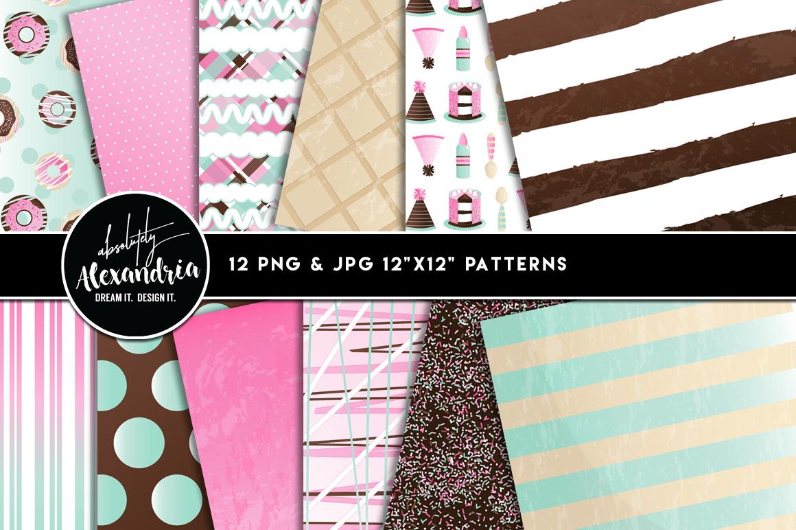 Sprinkles & Scoops Clipart Graphics & Digital Paper Patterns Bundle example image 2