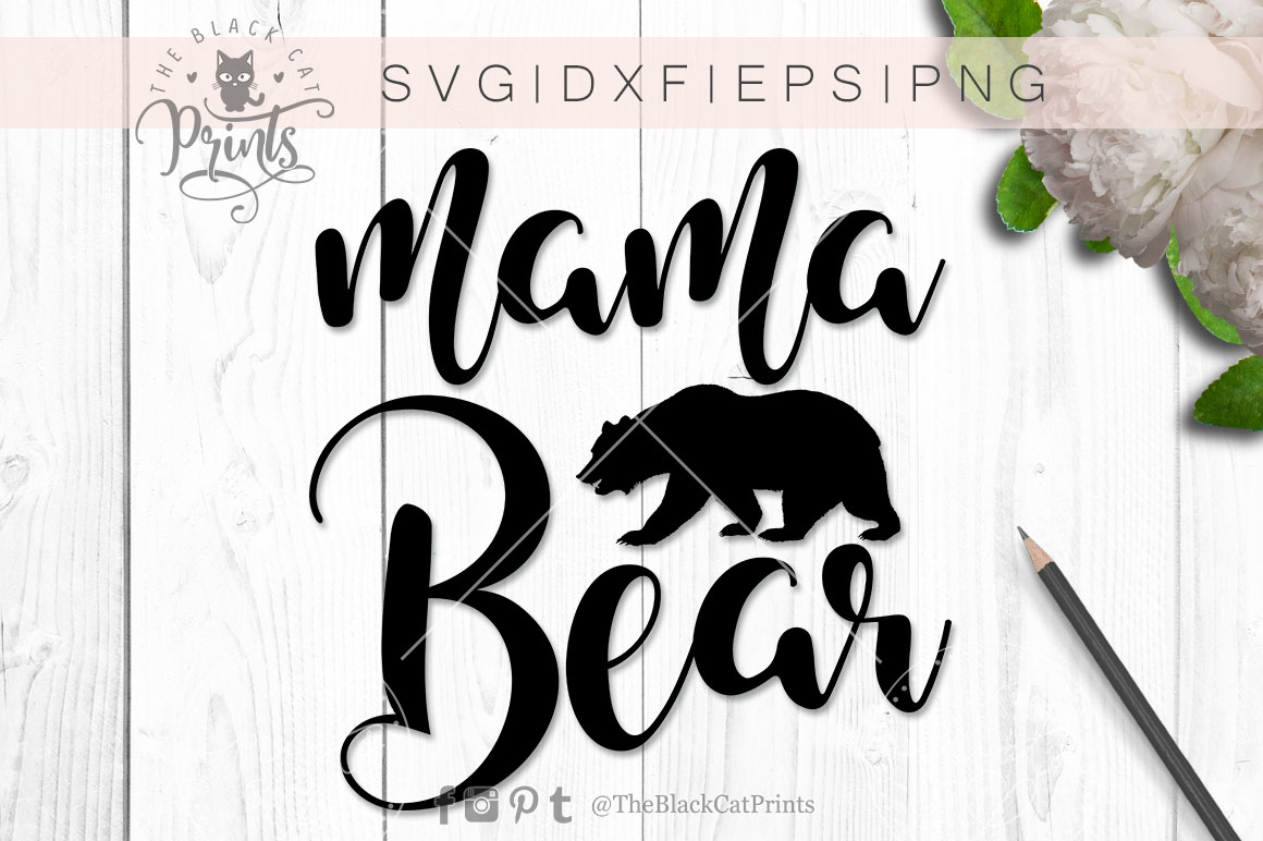 Mama Bear SVG PNG EPS DXF example image 2