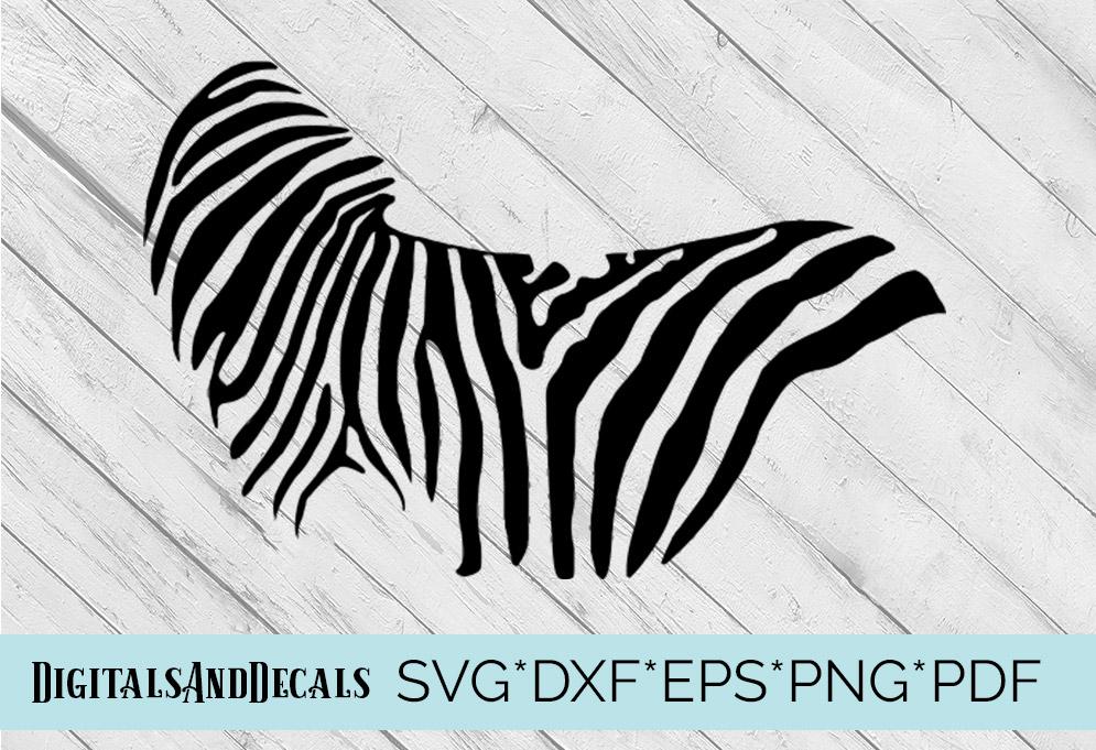 Zebra SVG  Cutting File  example image 1
