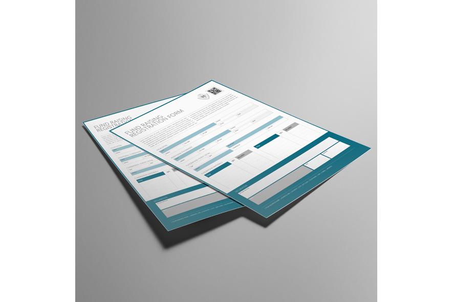 Fund Raising Registration US Letter Form example image 2