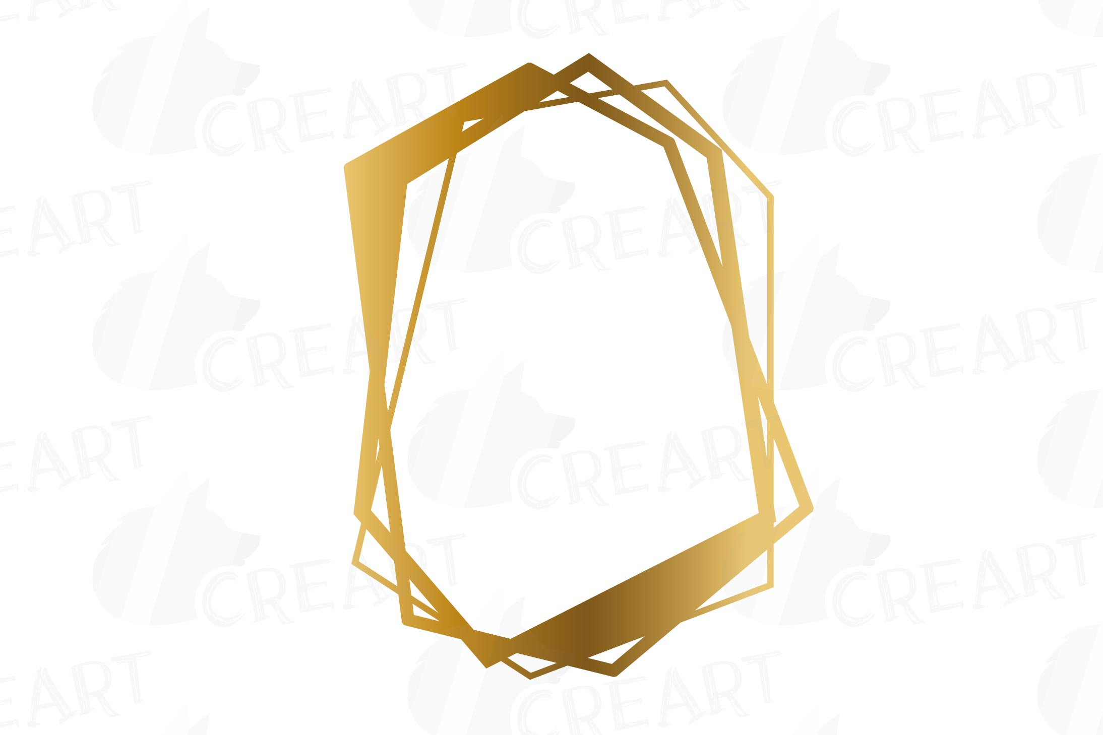 Chaotic geometric golden frames, lineal frames clip art example image 4