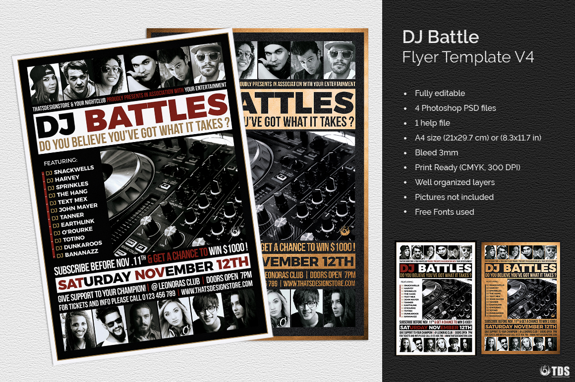 DJ Battle Flyer Template V4 example image 1