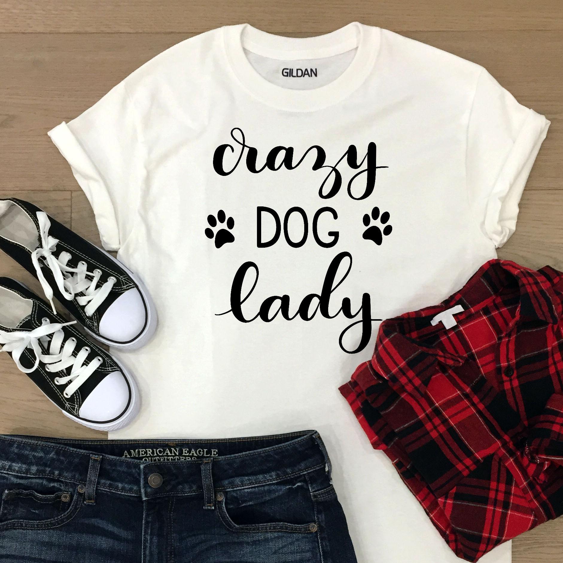 Dog SVG - Crazy Dog Lady, Handlettered example image 2
