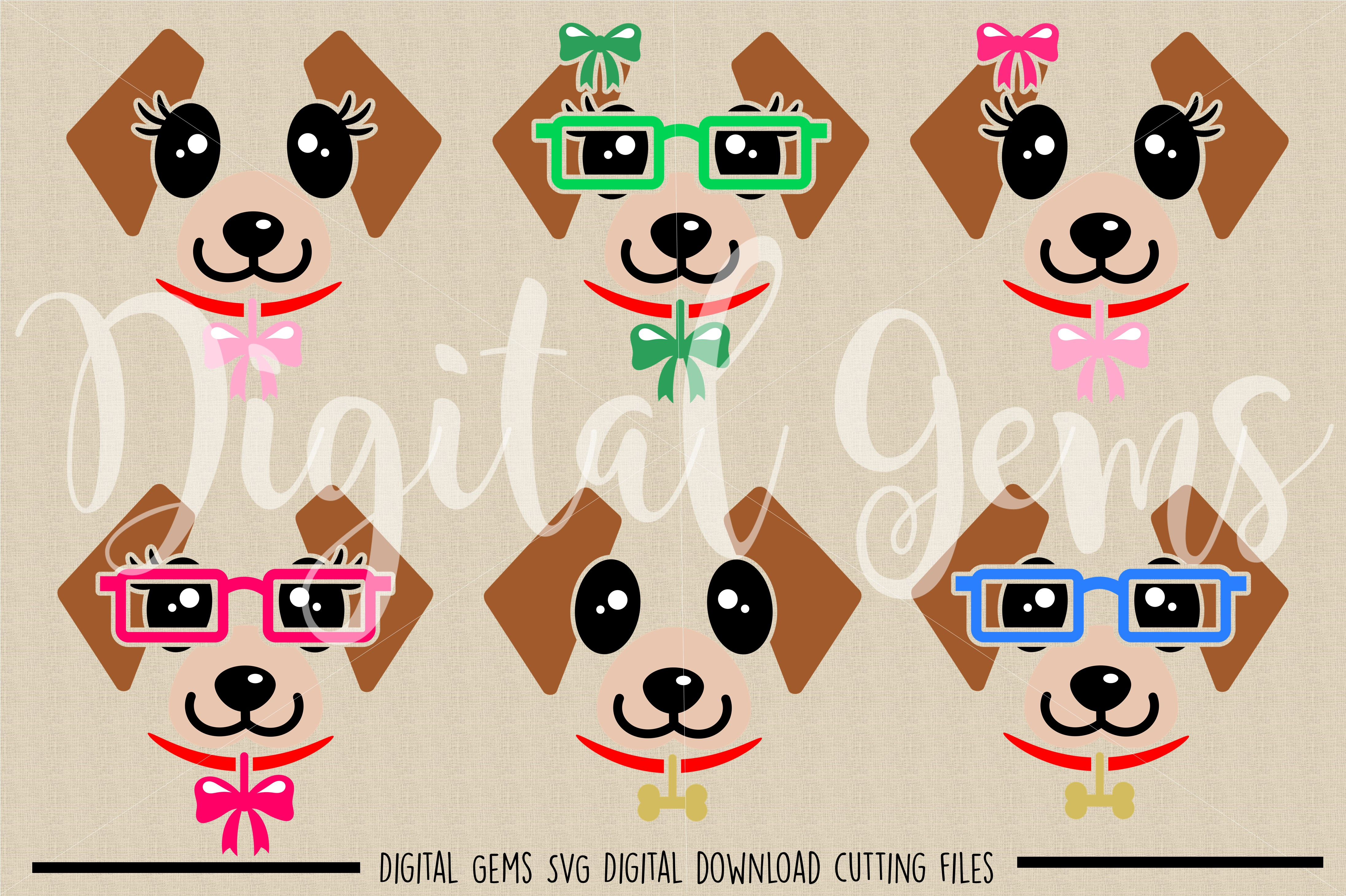 Dog Faces SVG / DXF / EPS / PNG files example image 2