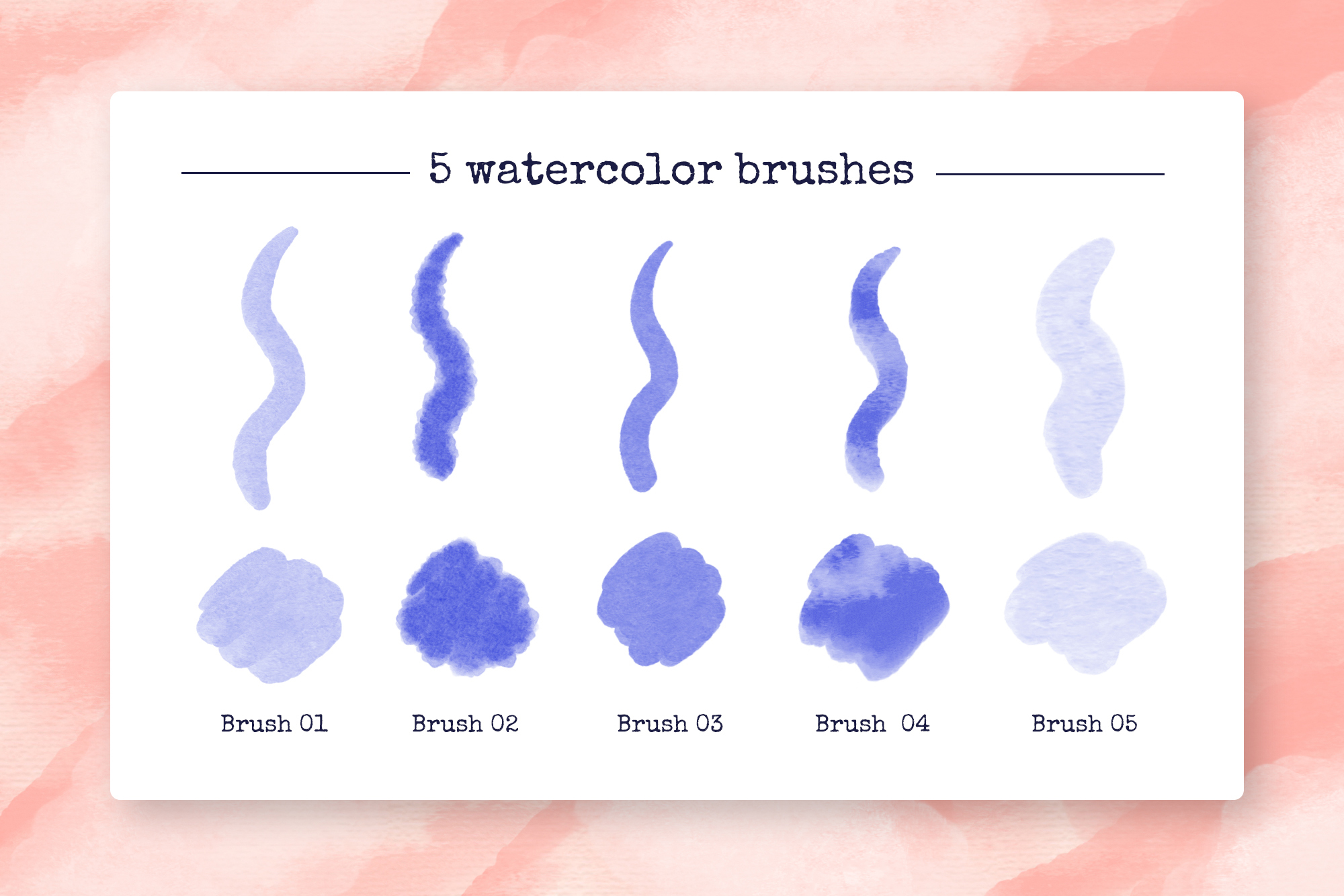 Procreate Watercolor Brushes example image 2