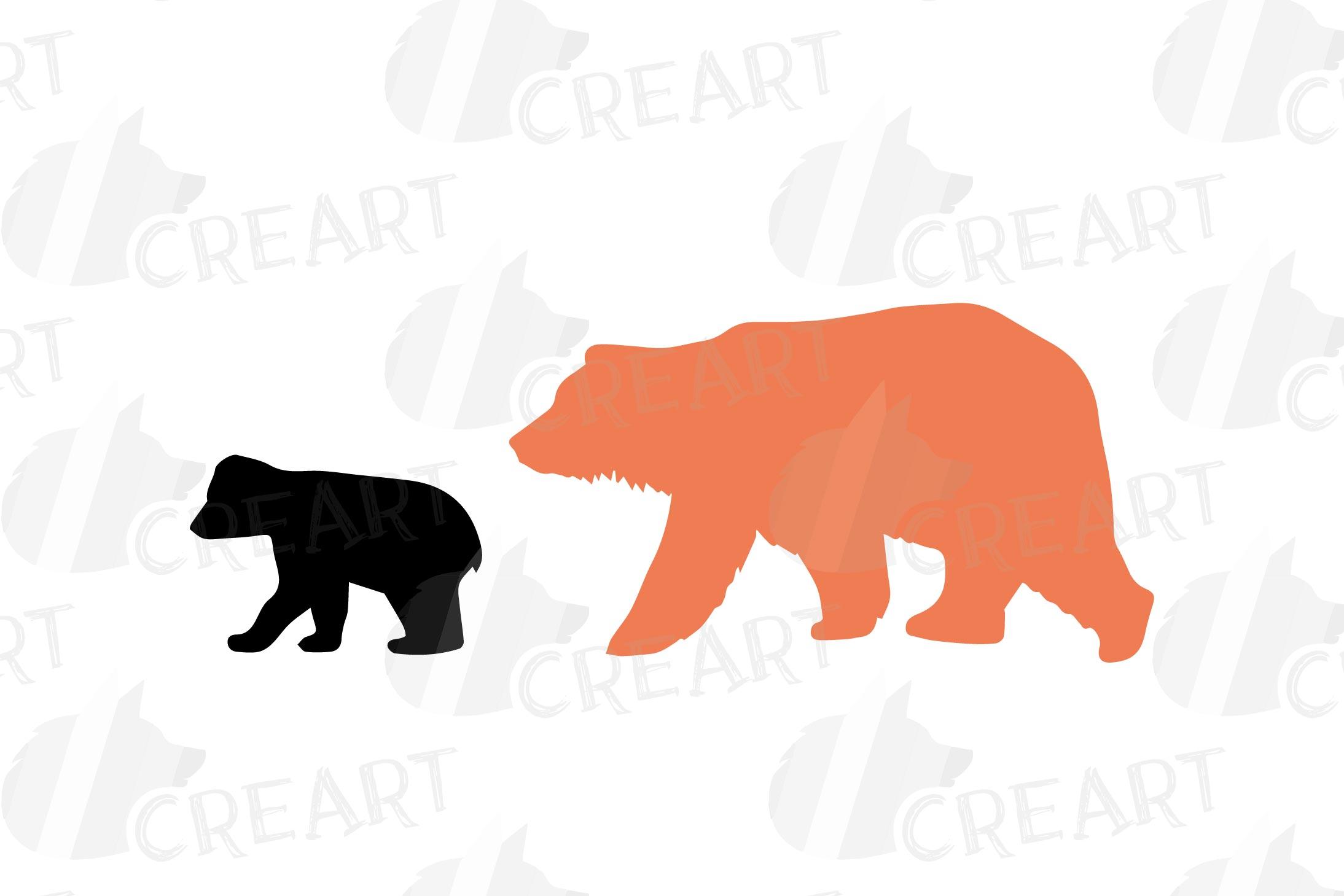 Baby and mama bear nursery clip art collection, bears print example image 6