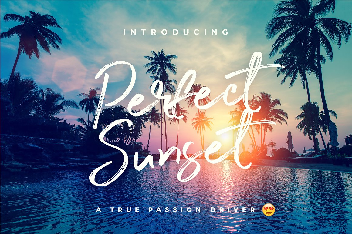 Perfect Sunset Typeface example image 1