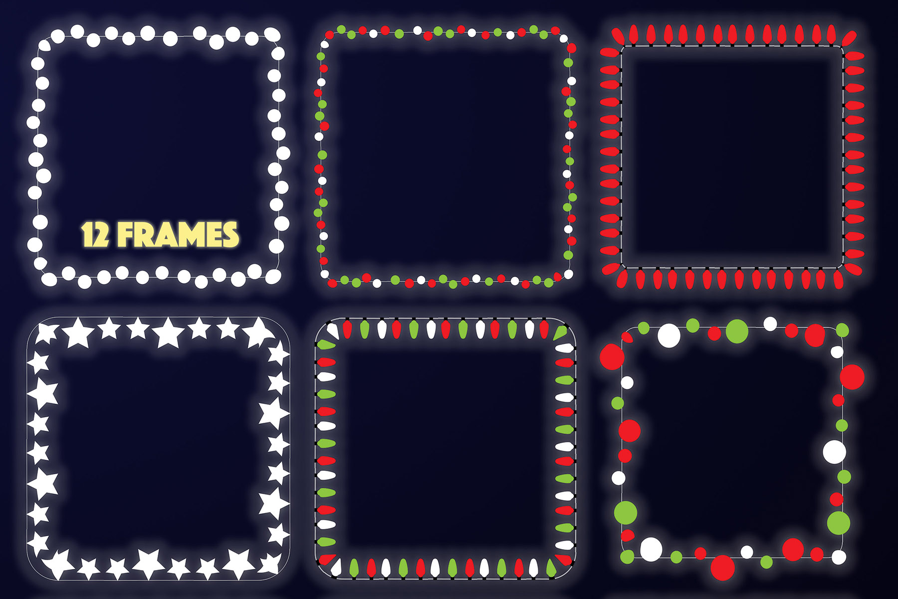 String Lights - Borders and Frames Illustrations example image 6