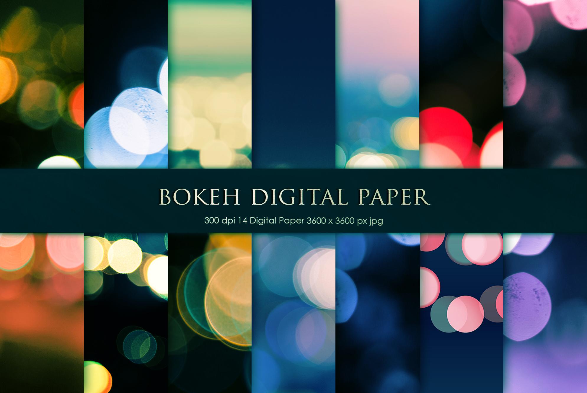 Bokeh Digital Paper, Backgrounds example image 1