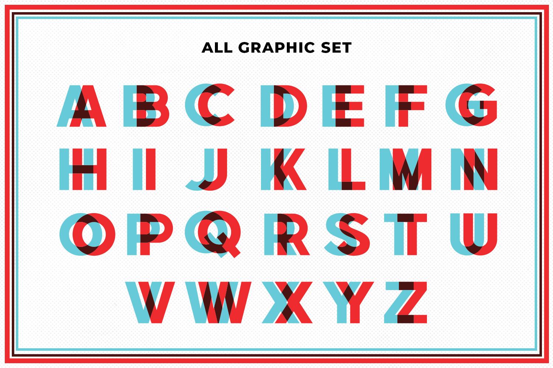 3D Glasses Alphabet Set example image 5