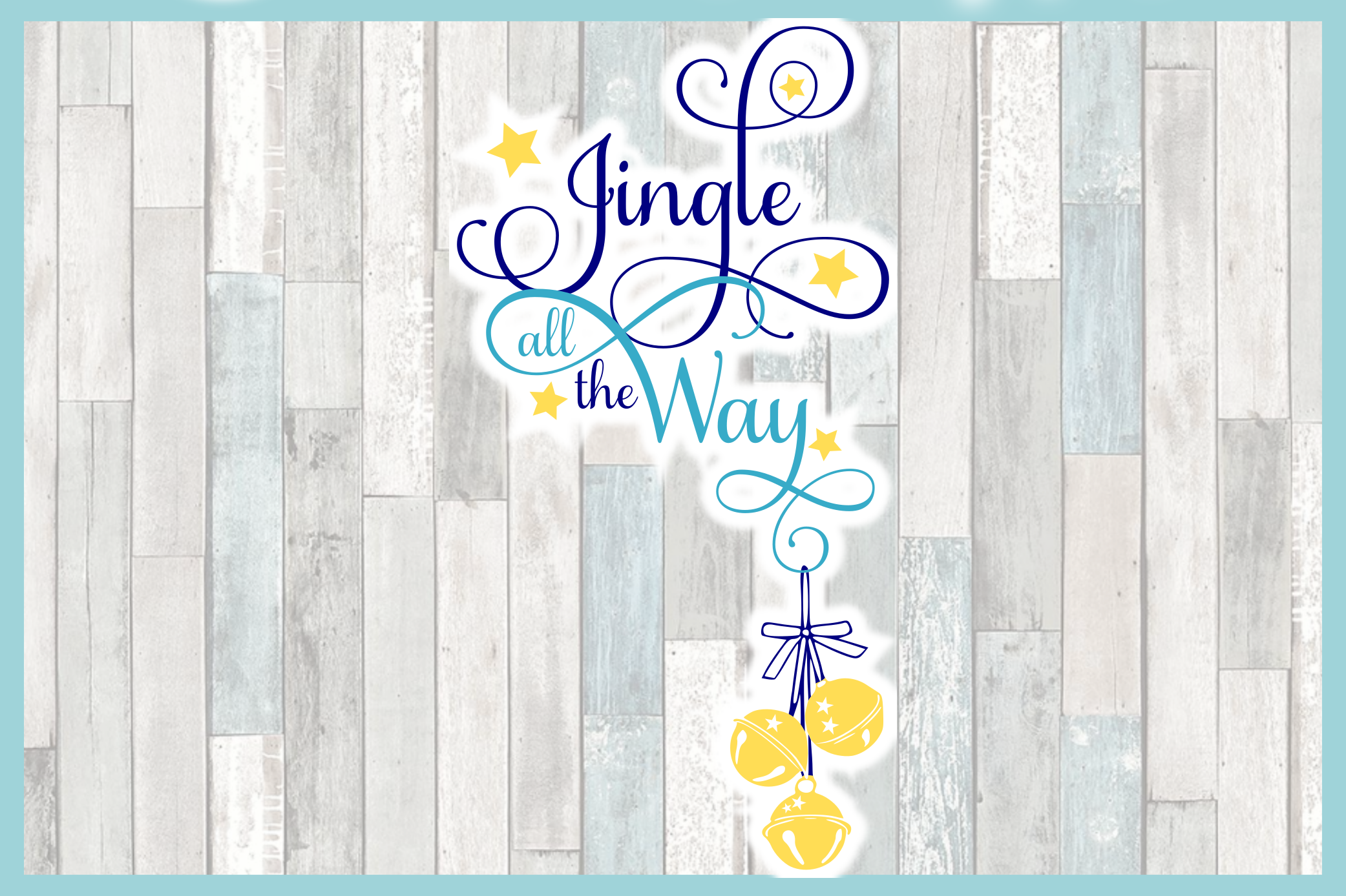 Jingle All The Way Christmas Holiday Quote SVG example image 4