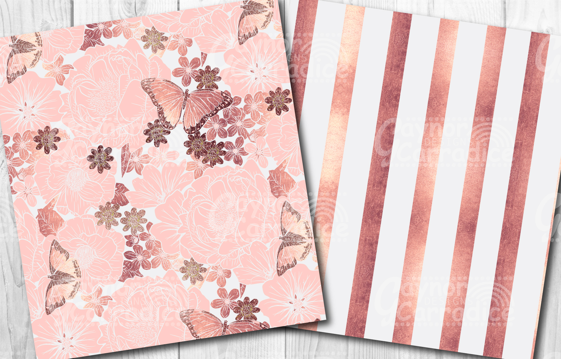 Rose Gold Butterfly Pattern Collection example image 4
