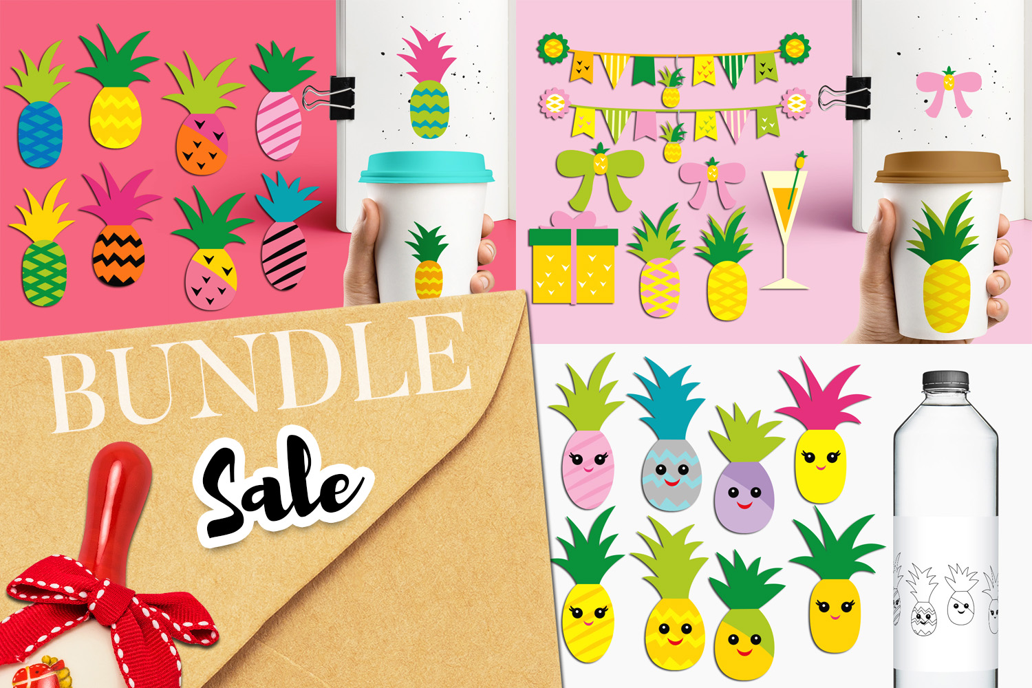 Pineapple Party Illustrations Bundle example image 1
