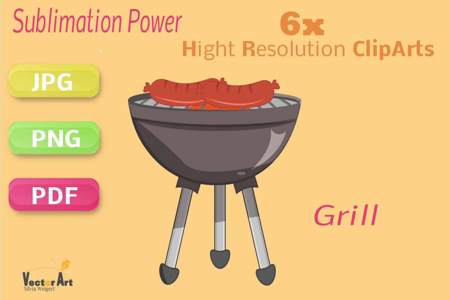 Barbecue - Craft Bundle for Sublimation and Scrapbooking example image 6