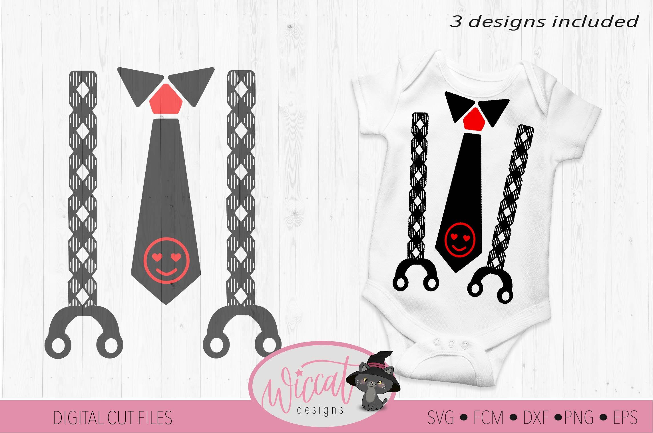 Valentine Baby tie and suspender svg example image 3