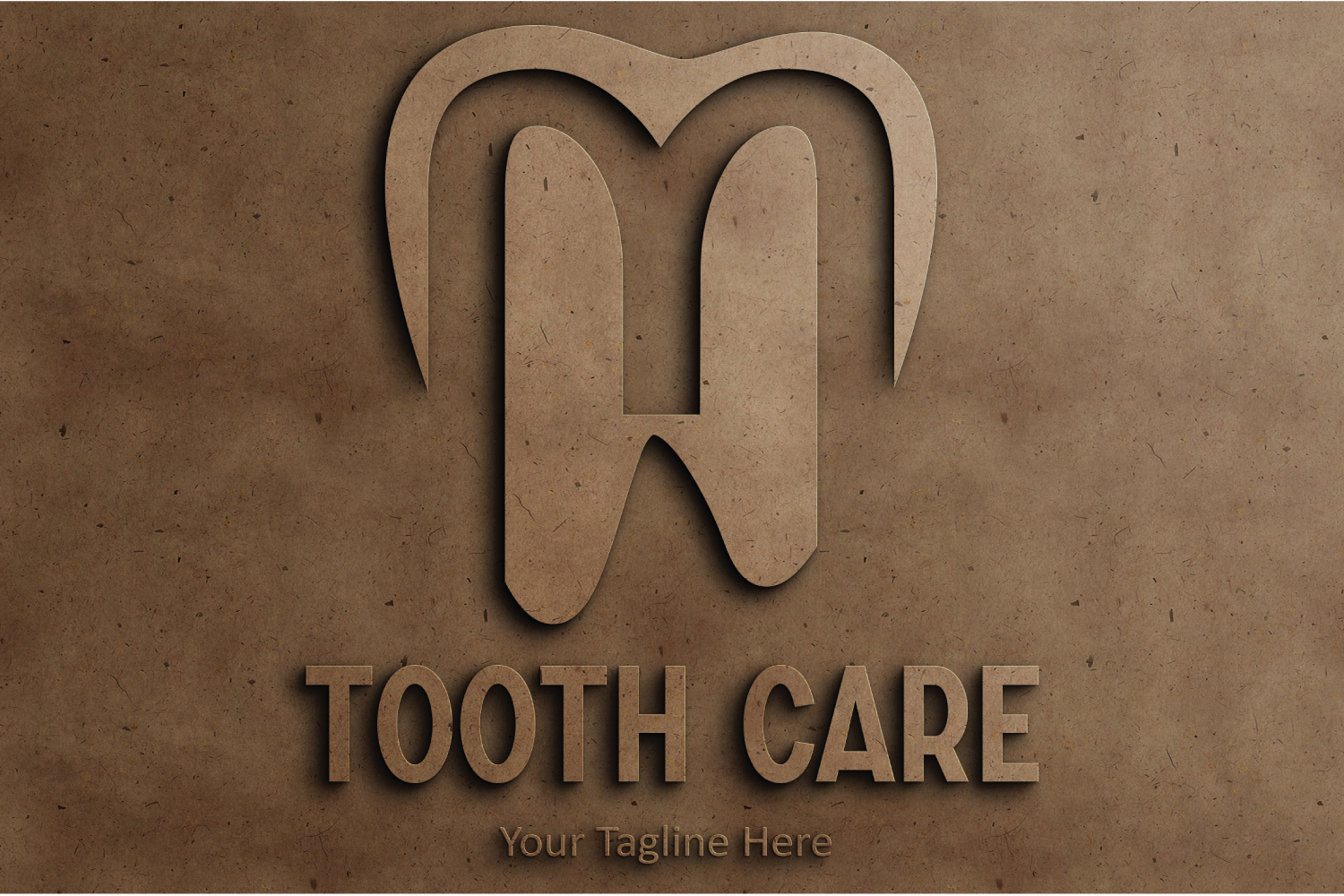 L letter dental tooth logo example image 3