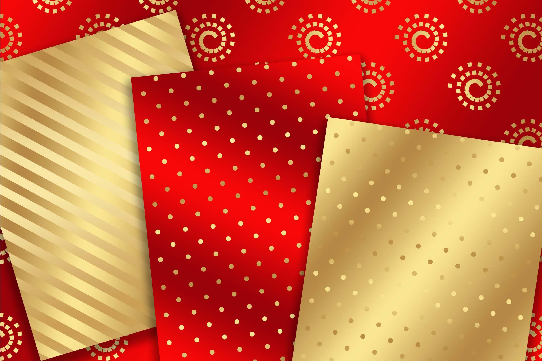 Gold Metallic Christmas background 8, 5 x 11 inch example image 2