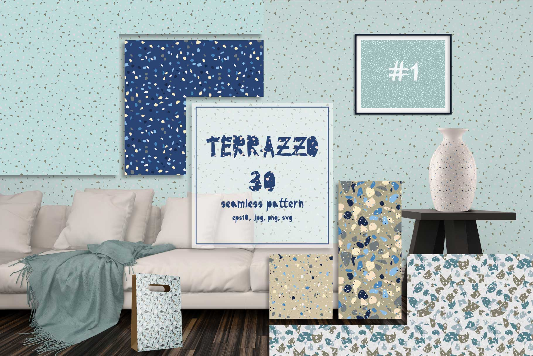 30 terrazzo seamless patterns example image 1