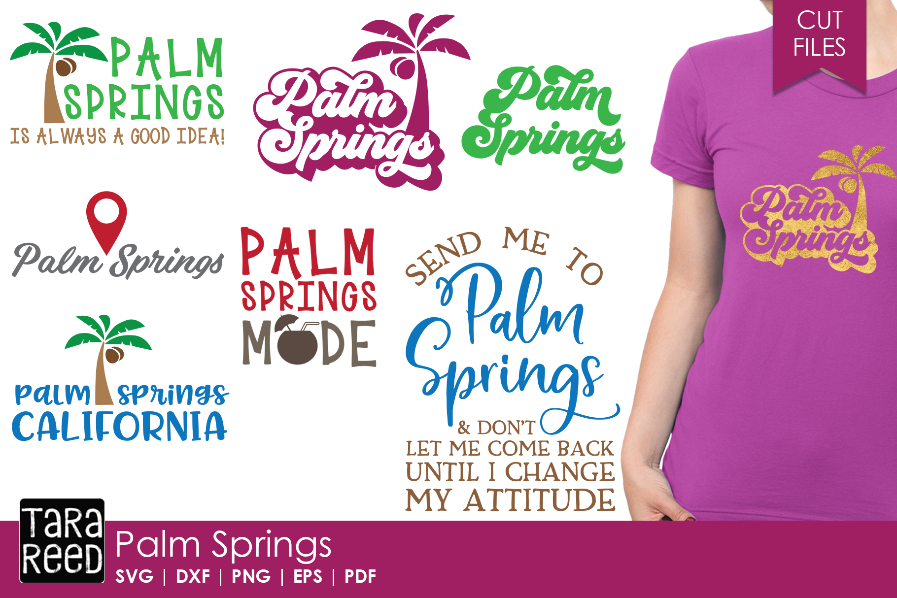 Palm Springs SVG and Cut Files for Crafters example image 1