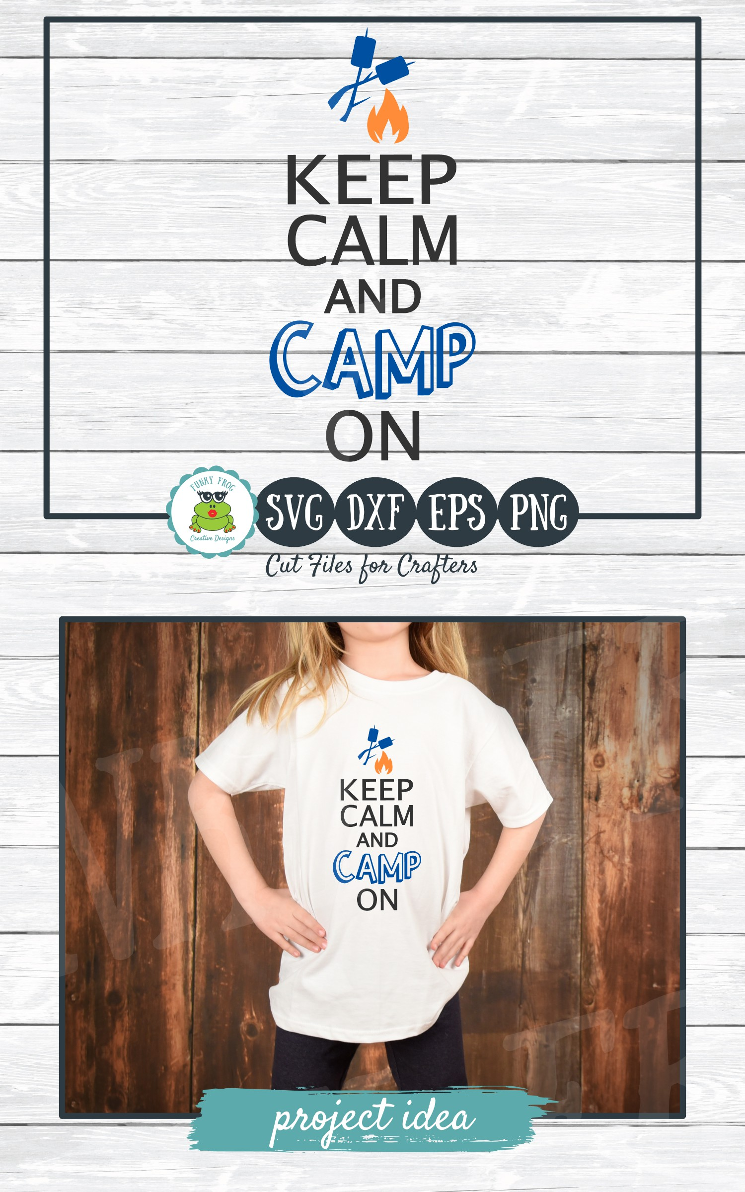 Keep Calm and Camp On, SVG Cut File for Crafters example image 3