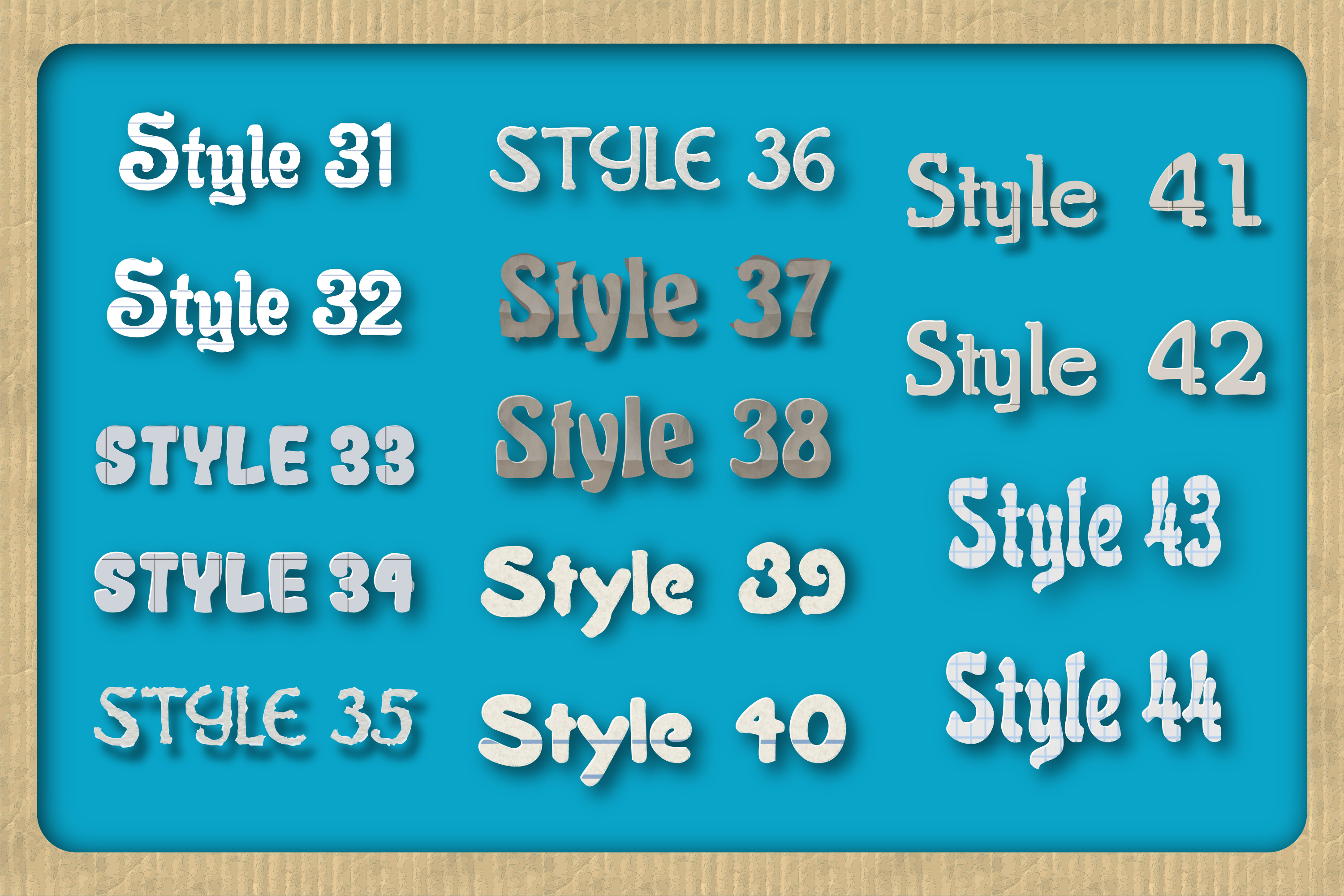44 Paper Adobe Illustrator Graphic Styles example image 4