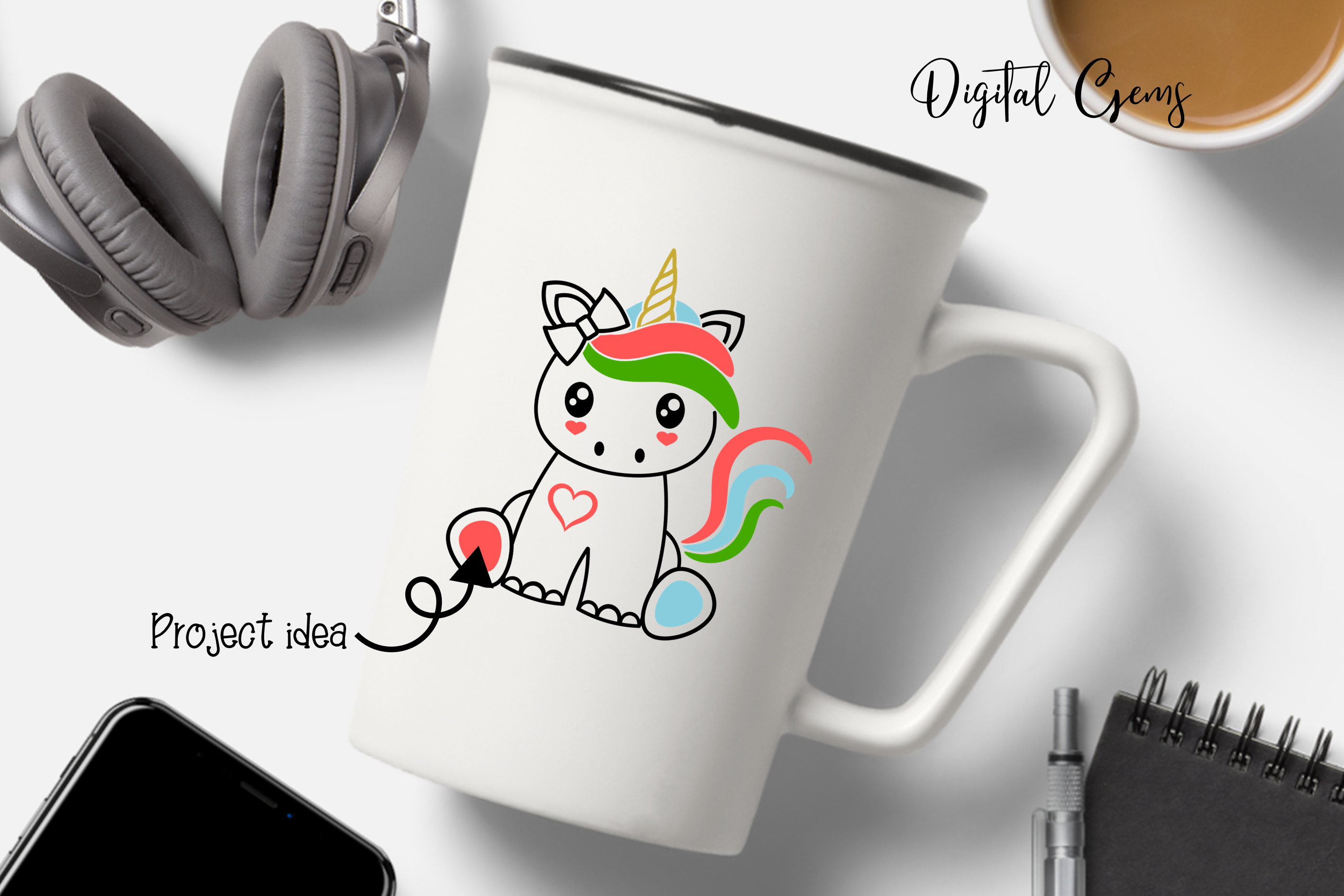 Unicorn design SVG / DXF / EPS / PNG files example image 4
